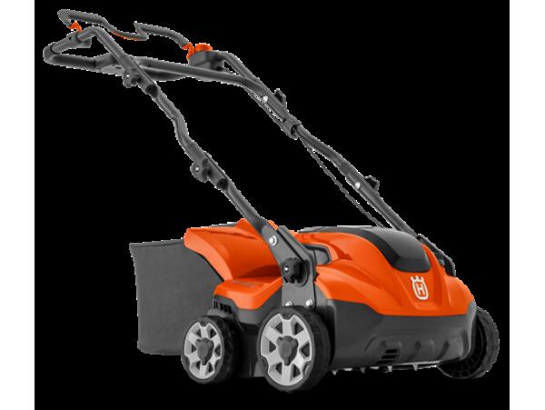Husqvarna S 138I  36 V; 46 L; 38cm; 2+1  21 kg; be baterijos ir krovikl.; su krepšiu; papild.ašis.